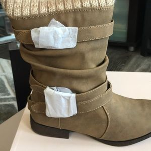 Tan, ankle boots